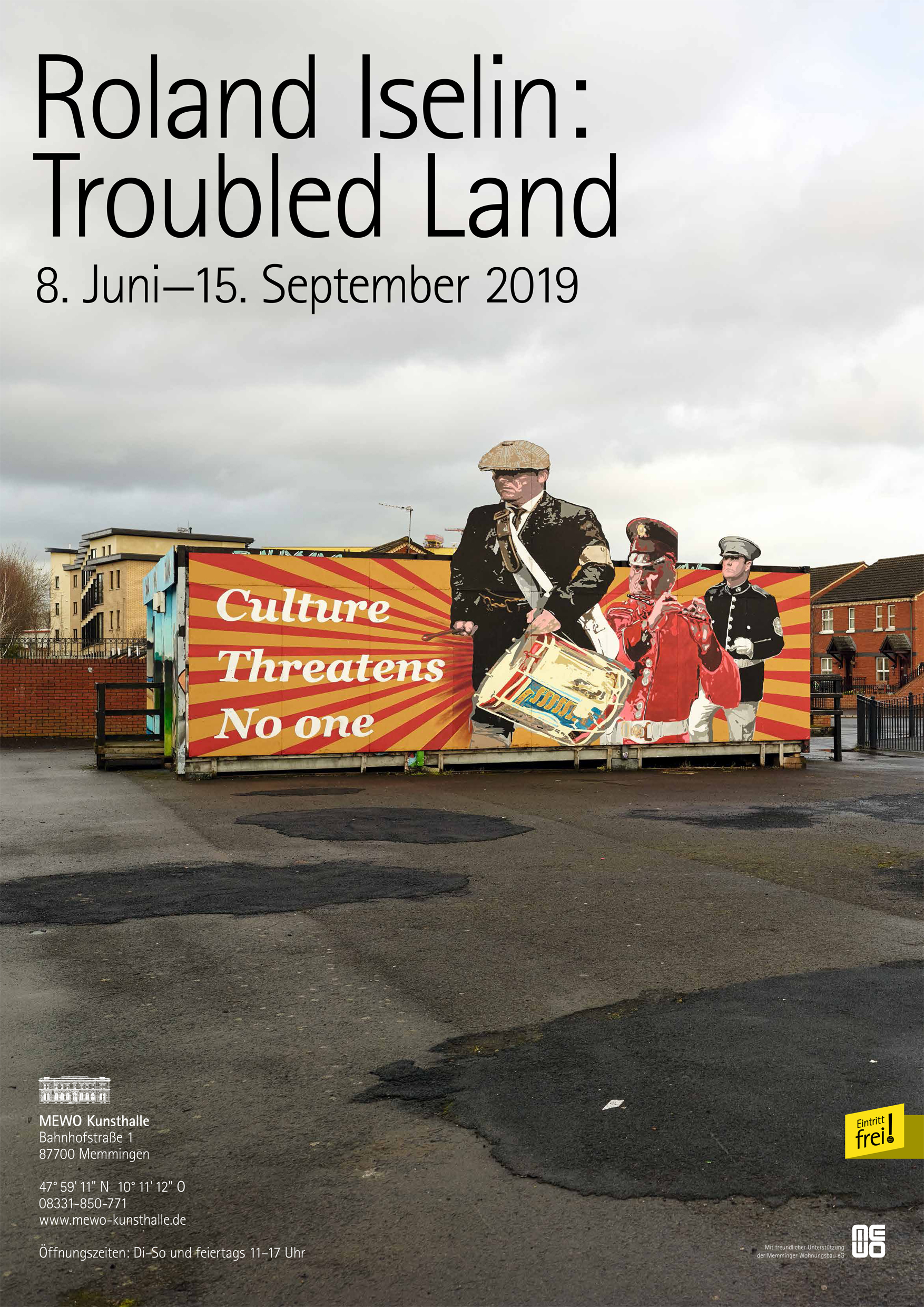 Poster Roland Iselin: Troubled Land